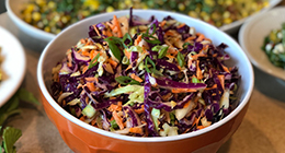 Coleslaw in bowl