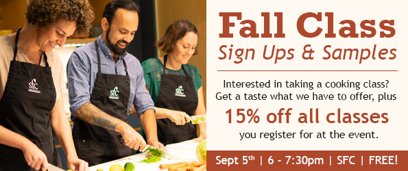 Fall Class Sign-ups and Samples