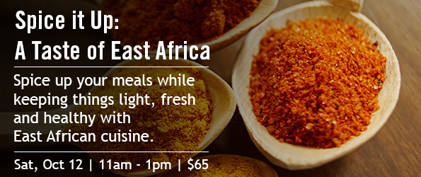 A Taste of East Africa cooking class ad