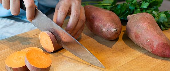 Chopping Sweet Potatoes