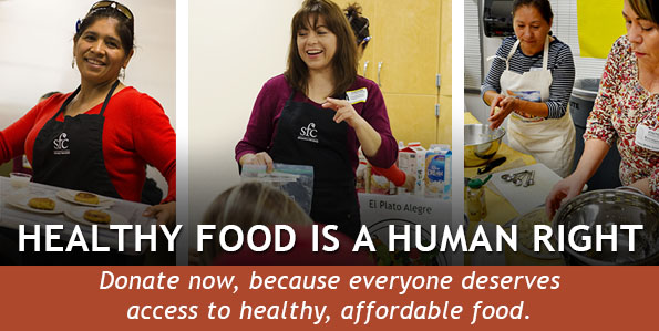 Healthy food is a human right. Donate today.