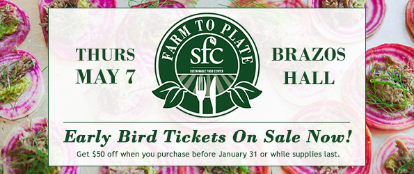Farm to Plate Early Bird Tickets on Sale