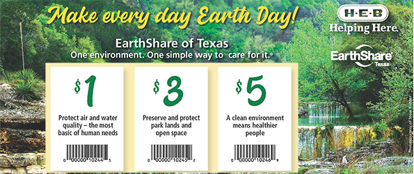 HEB and EarthShare Tearpad Coupons