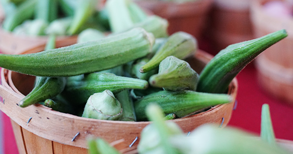 Okra in basket