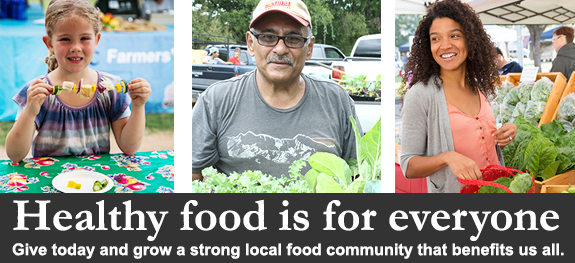 Healthy food is for everyone. Give today!