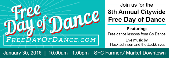Free Day of Dance at SFC Farmers' Market Downtown Jan 30
