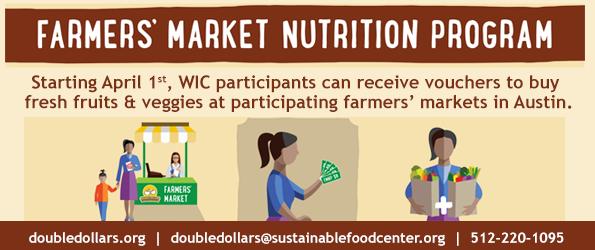 Farmers' Market Nutrition Program Begins April 1