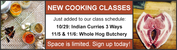 New Cooking Classes!