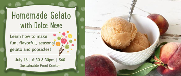 Homemade Gelato Class with Dolce Neve