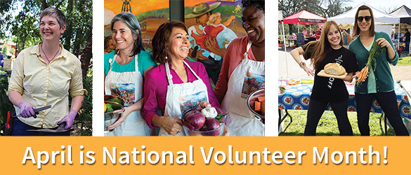 April is Volunteer Month!
