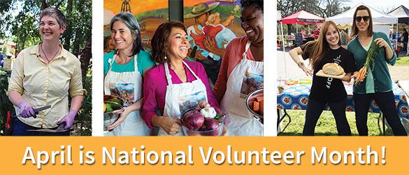 April is Volunteer Month!