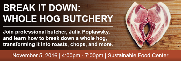 Whole Hog Butchery Class